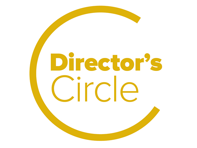Director's Circle logo gold on white background