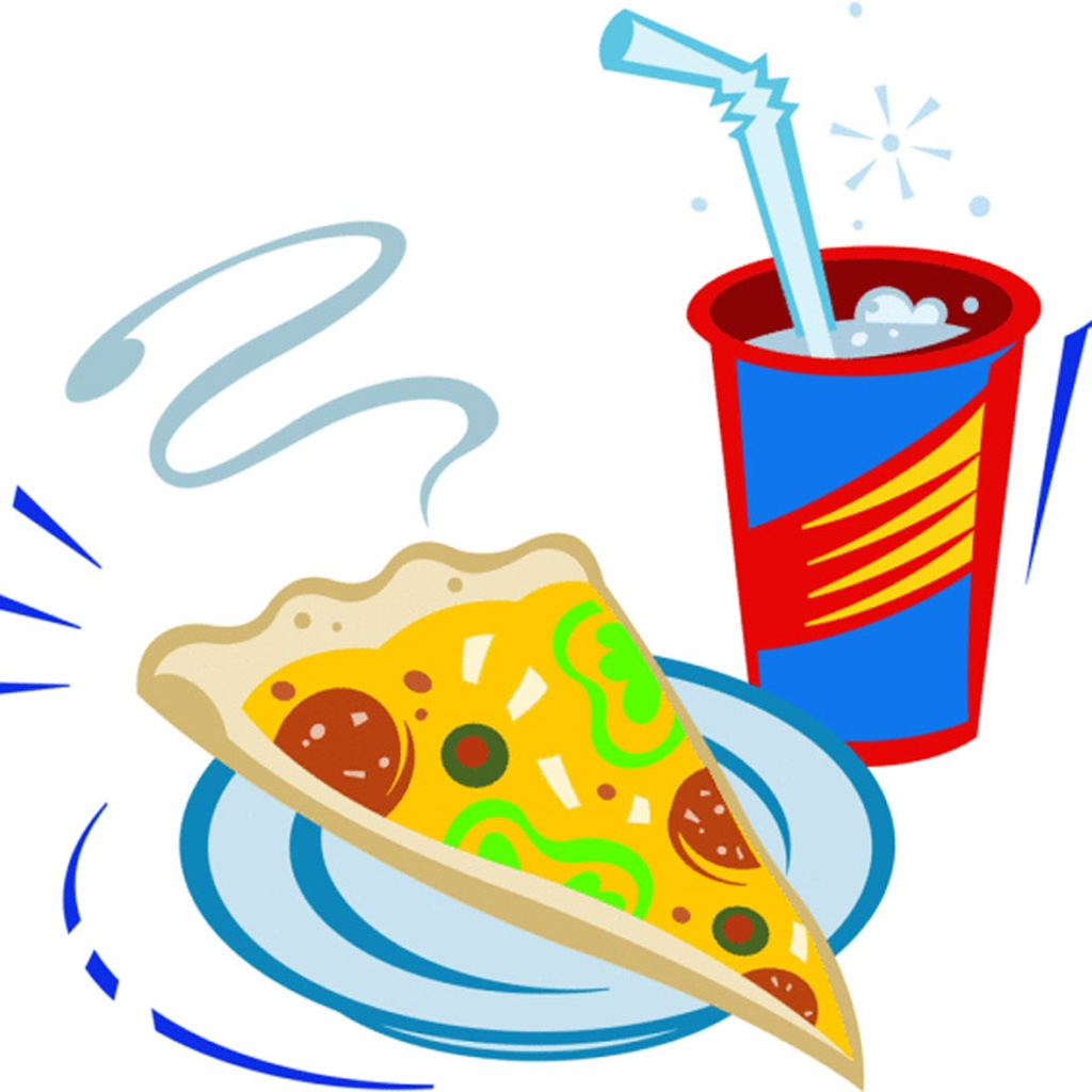Pizza slice and drink clip art
